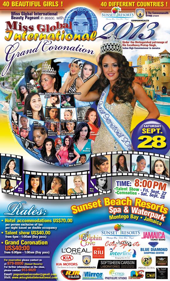 miss global Jamaica poster 2013