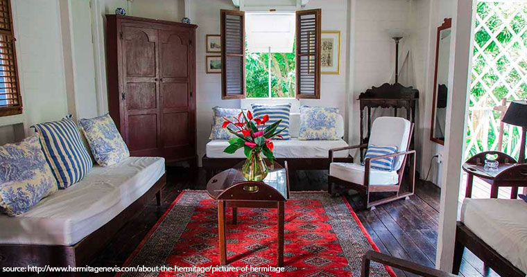 Room at The Hermitage, Nevis.