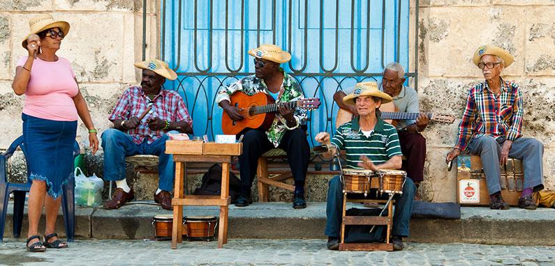 Street musicians in Havana, Cuba.